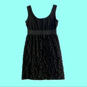 Xhilaration • Black Ruffle👗Cocktail Dress • MED